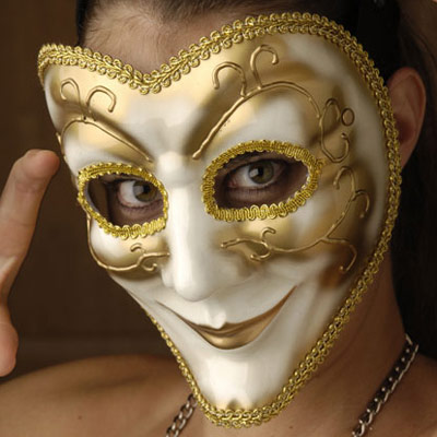 Venetian Style Mask with Smile